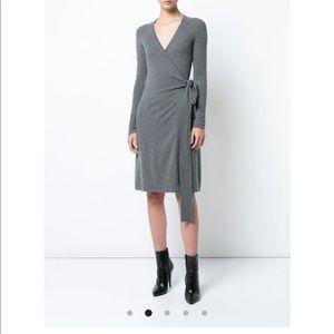 NWT DVF Cashmere wrap dress w/tags